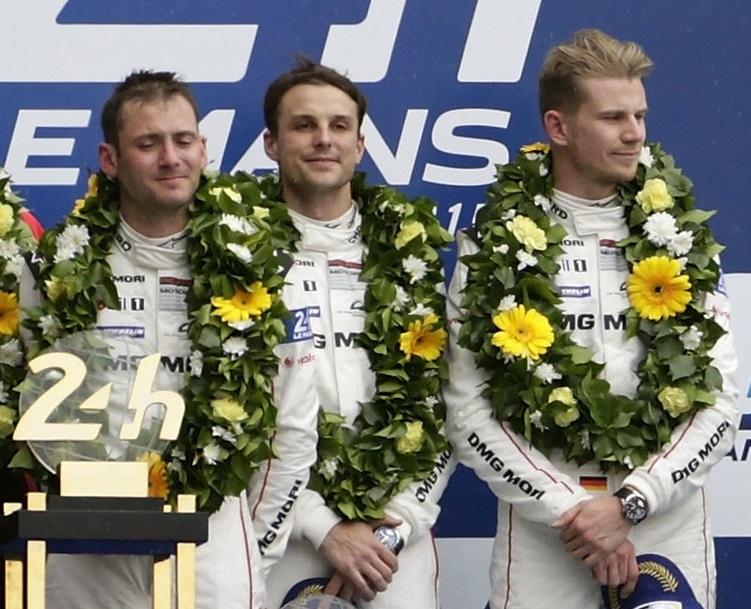 Le trio gagnant d'édition 2015 des 24 heures du Mans