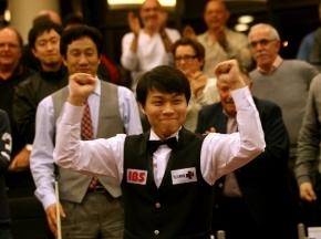 Choi est l'un des meilleurs au monde du Billard trois bandes.