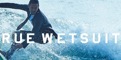 Quick-Silver vient de lancer le « True Wetsuit » : le costume cravate qui sert à surfer.