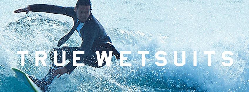 Quick-Silver vient de lancer le « True Wetsuit » : le costume cravate qui sert à surfer.