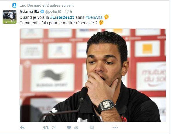 Les tweets sur l'absence de Hatem Ben Arfa s'est beaucoup accentué hier sur la toile.